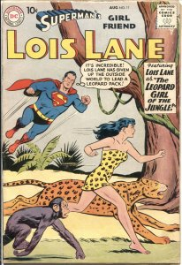 SUPERMAN'S GIRL FRIEND LOIS LANE #11-1959-LEOPARD GIRL JUNGLE COVER WITH MONKEY