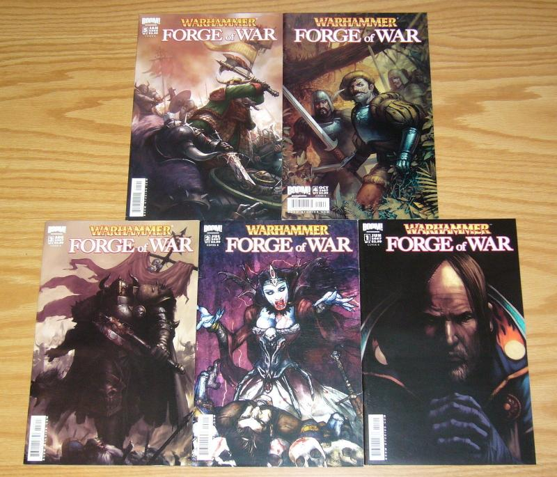 Warhammer: Forge of War #1-5 VF/NM complete series - all B variants 2 3 4 set