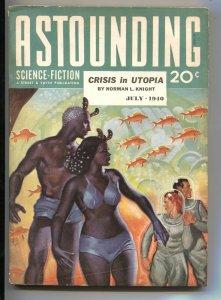 ASTOUNDING SCIENCE-FICTION-JULY 1940-L RON HUBBARD--ROBERT HEINLEIN-PULP