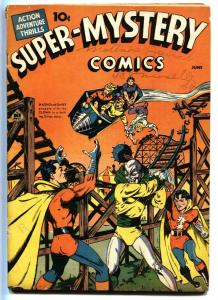 Super-Mystery Vol. 2 #2-Magno-roller coaster cover-RARE
