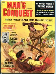 Man's Conquest Magazine June 1958- Lobotomy- Last of the Moro Bloodbaths