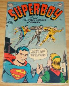 Superboy #16 VG september 1951 - golden age dc comics - strange costumes 52 pgs