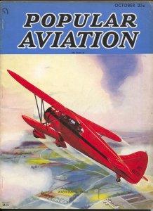 Popular Aviation 10/1936-H.R. Bollin-Waco Custom Cabin-Japanese Aviation-VG+