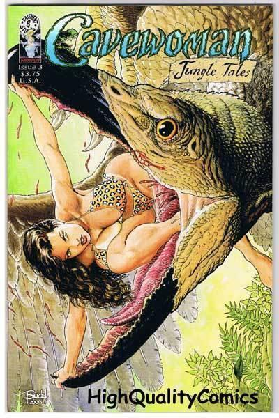 CAVEWOMAN JUNGLE TALES #3, VF/NM, Blonde Medusa, Budd Root, more CW in store