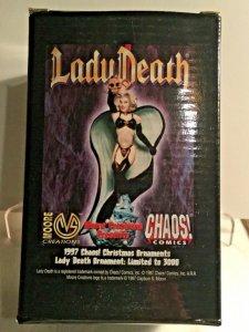 Lady Death 1997 Christmas Ornament. CHAOS COMICS LTD EDITION 1333/3000
