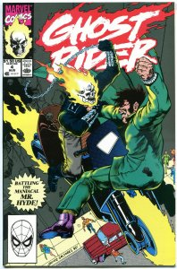 GHOST RIDER #4, Johnny Blaze, Mr Hyde, 1990, NM+, Mark Texeira, more GR instore
