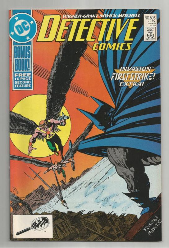 DETECTIVE #595, VF/NM, Batman, HawkMan, 1989, Gotham City, more DC in store