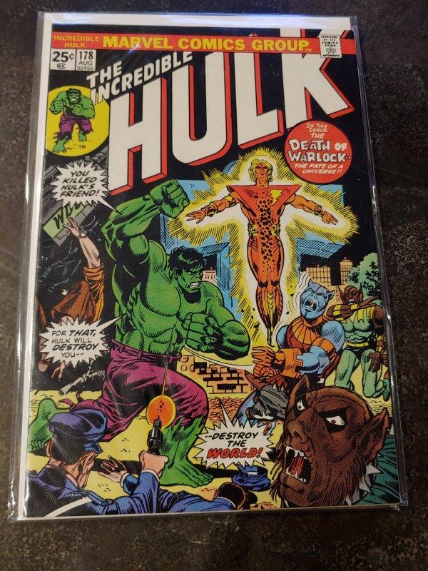 THE INCREDIBLE HULK #178 (Marvel Comics 1974) DEATH/REBIRTH of Adam Warlock