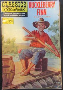 Classics Illustrated - Huckleberry Finn #19 HRN166 (25 cents) VG+ 4.5