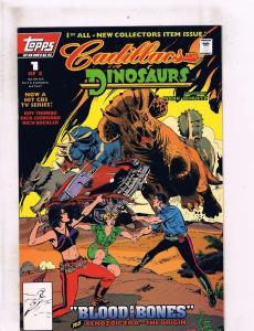 Lot Of 2 Cadillacs & Dinosaurs Topps Comic Books # 1 & 2 Roy Thomas HJ5