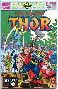 THOR #16 Annual, VF+, God of Thunder, Guardians of the Galaxy, 1966 series, 1991