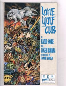 Lot Of 4 Lone Wolf and Cub First Comic Books # 12 13 14 15 Super Heroes TW33