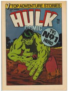 HULK (BRITISH WEEKLY) 5 VF-NM CAPT BRITAIN X-OVER IN BL