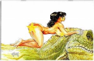 Cavewoman Apex Predator #1 Cvr E Ltd to 450 w/COA (Amryl, 2019) NM