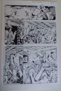 DON LOMAX Original Art, Vietnam Journal #8 pg 4, Brain Dead Horror, Caliber,2011