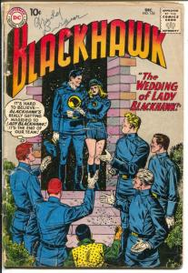 Blackhawk #155 1960-DC-Lady Blackhawk Wedding-killer shark story-G