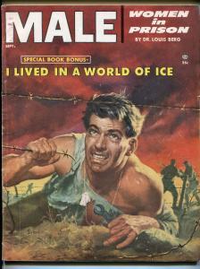 Male 9/1954-Atlas-pulp-Bob Schulz-Louis L'Amour-women in prison-FN