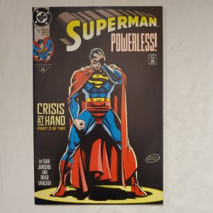 Superman 72 Near Mint  Art by Dan Jurgens