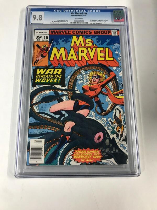 Ms. Marvel 16 Cgc 9.8 White Pages 1st Mystique Marvel