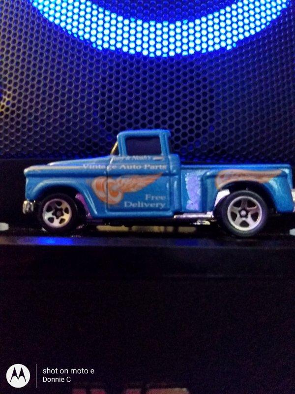 Original 1956 Chevy stepside pickup. 1991 Hot Wheels limited series.