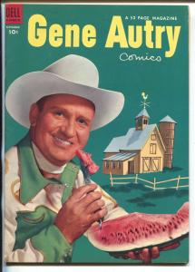 Gene Autry #79 1953-Dell-famous watermelon cover-B-Western star-VF