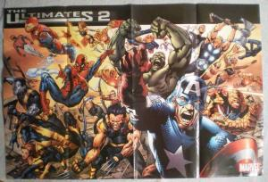 ULTIMATES 2 Promo Poster, THOR, HULK, X-MEN, 36x24, Unused