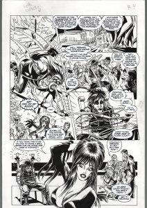 TOD SMITH-ELVIRA #125-THE HAUNTING-PART II -ORIGINAL ART PAGE 24-QUEEN 'B FN