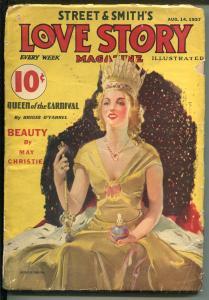 LOVE STORY 8/14/1937-STREET & SMITH-PULP-ROMANCE-MODEST STEIN-fr