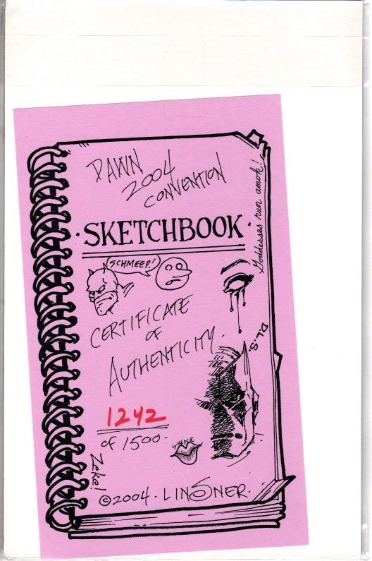 DAWN CONVENTION SKETCH BOOK 2004 SIGNED LISNER $25.00 WITH COA NEAR MINT