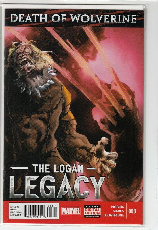 DEATH OF WOLVERINE LOGAN LEGACY (2014 MARVEL) #3 NM- A58854