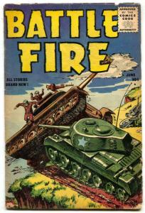 Battle Fire #2 1955- War comic- Tanks! G/VG