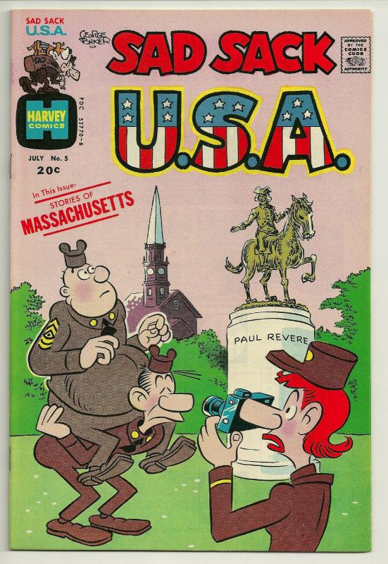 Sad Sack U.S.A. #5 (Jul 1973, Harvey) - Very Fine