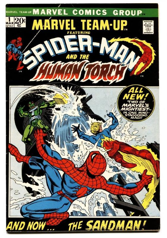 Marvel Team-Up #1 comic book 1972- Spider-man- Human Torch- VF
