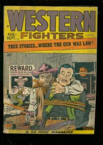WESTERN FIGHTERS #3 1948-SNAKE COVER-QUANTRILL VG-