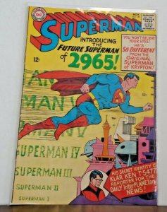 *Superman V1 #181-190 (10 books) 1st 2465, 1st S.A. Toyman, Graded $169