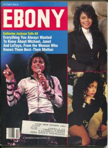 Ebony 10/1990-Michael, Janet & LaToya Jackson cover-The Blues-FN