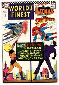WORLDS FINEST #166 comic book 1966-DC-BATMAN-SUPERMAN-JOKER
