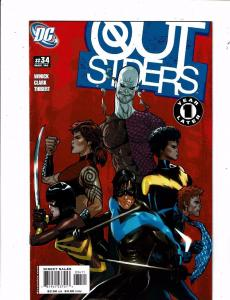 Lot Of 11 Outsiders DC Comic Books # 34 35 36 37 38 39 40 42 43 45 Annual 1 J244