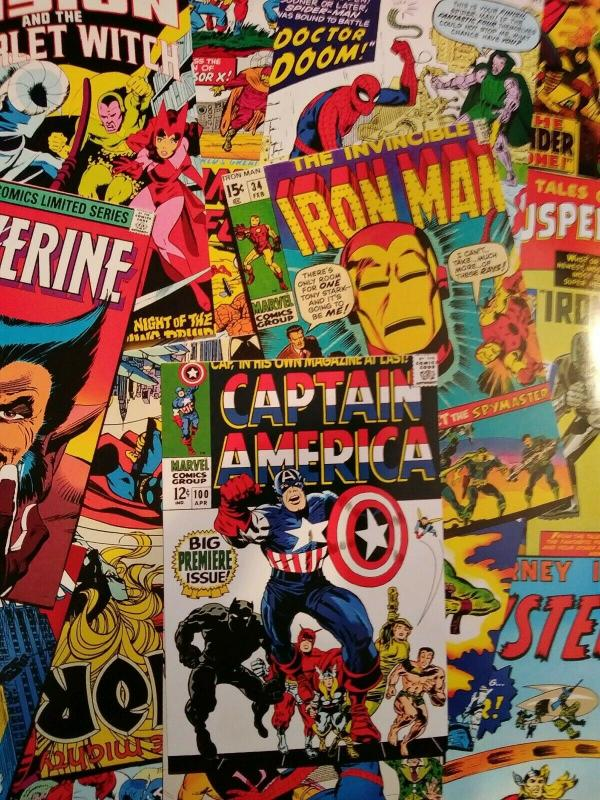 12 Issue Grab Bag Lot Of Marvel Comics #1's Spider-man, Captain America and more