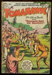 TOMAHAWK #23 1954 DC COMICS WESTERN ARROW MAKER INDIANS VG-