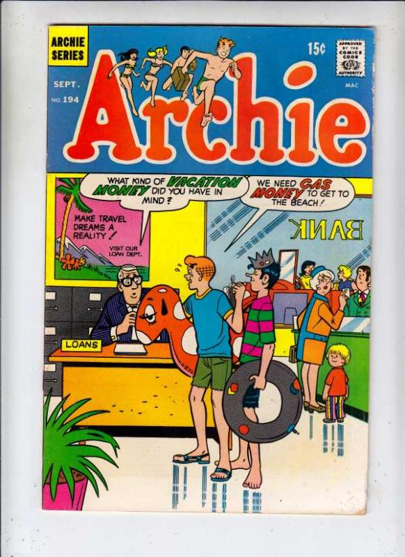 Archie #194 (Sep-69) FN/VF+ High-Grade Archie