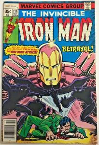 INVINCIBLE IRON MAN#115 FN/VF 1978 MARVEL BRONZE AGE COMICS