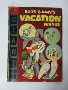 BUGS BUNNY'S VACATION FUNNIES #6 (Dell,6/1956) FAIR (FR)