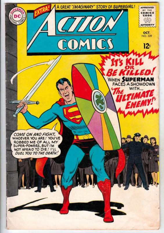 Action Comics #329 (Oct-65) FN Mid-Grade Superman
