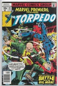 Marvel Premiere   #40 FN Torpedo