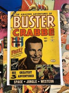 Buster Crabbe #1 VG+ 4.5 photo cover GOLDEN AGE lev gleason TEN CENTS walton