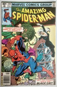 The Amazing Spider-Man #204 3rd App Black Cat, NEWSSTAND EDITION