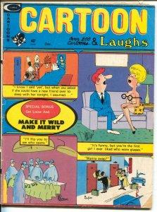 Cartoon Laughs 12/1974-Marvel-200+ cartoons & gags-Pussycat Comic Strip-VG