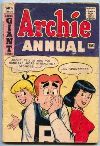 Archie Annual #14 1963- Betty & Veronica headlight cover