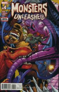 Monsters Unleashed (2nd Series) #4 VF/NM; Marvel | save on shipping - details in